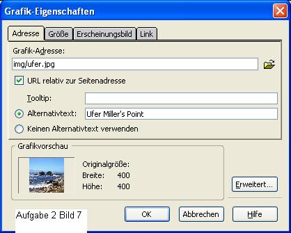 Dialogfenster Grafik-Eigenschaften